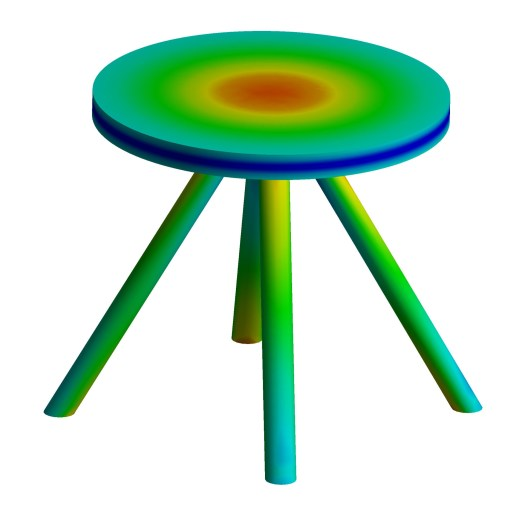 Table with tilted legs