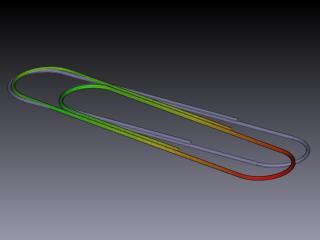 A paper clip simulation