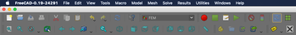 Loading FEM workbench