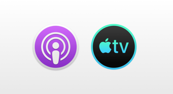 Podcasts and Apple TV application icon for macOS
