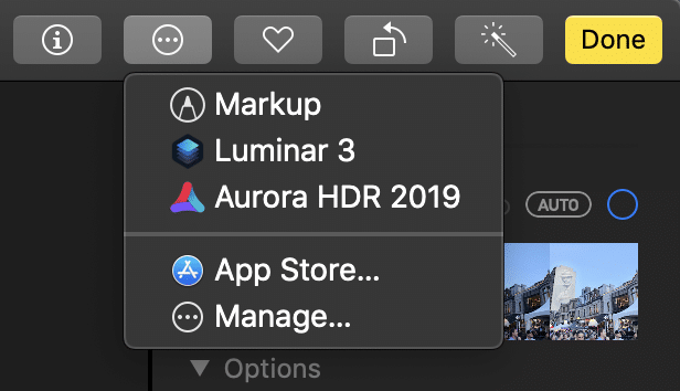 Apple Photos edit extensions
