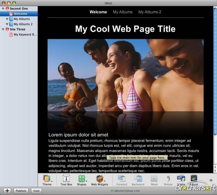 iWeb application from Apple