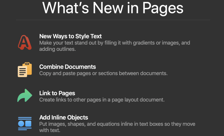 Pages Updated to version 8.1