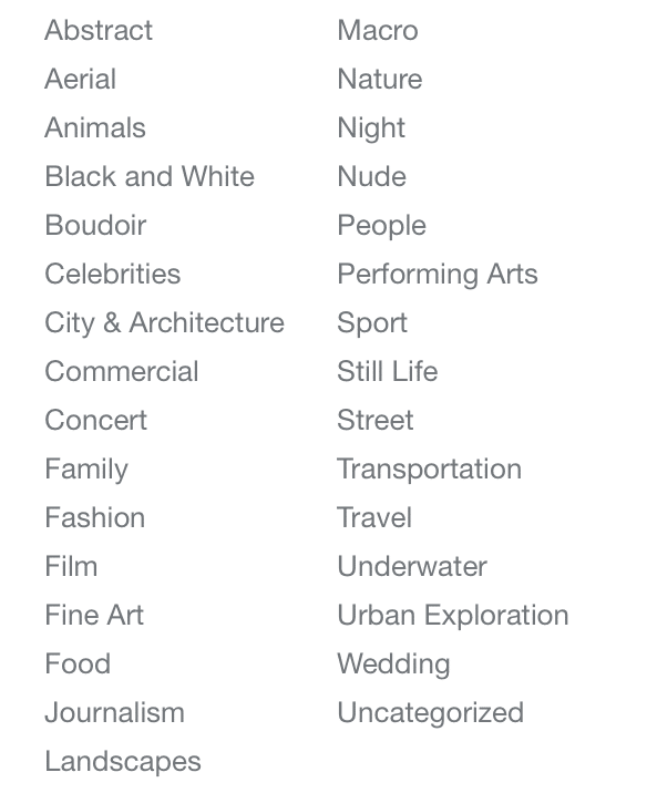 You can select any of these categories while posting a photo online