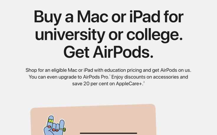 Apple's web page for educational products