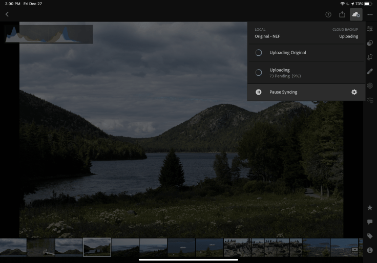 Syncing images to Adobe's cloud
