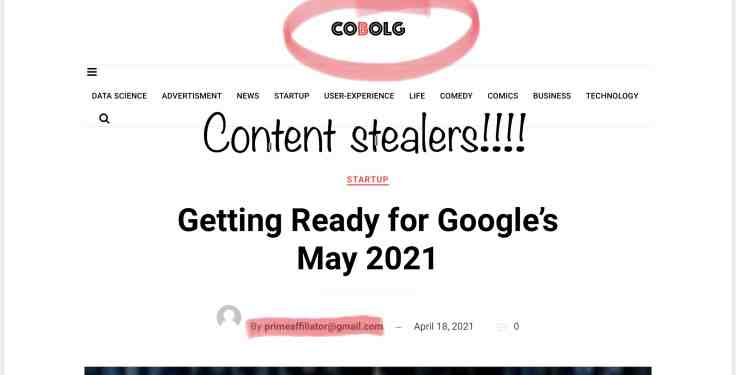 COBOLG website who with my stolen content