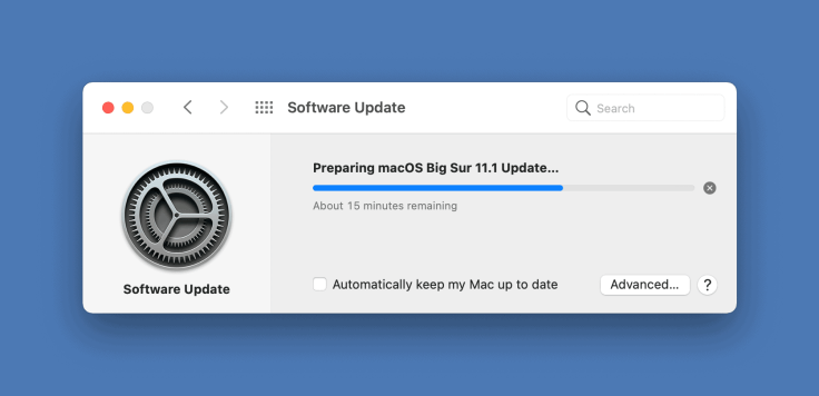 Time to install macOS updates never been improved over the years