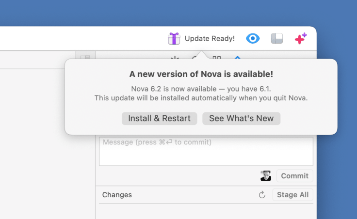 Each applications advertises about available updates in its own way.