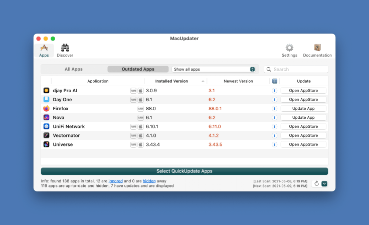 Managing application updates, even with MacUpdater, is a chore.