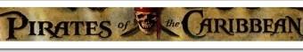 """Fuente tipográfica de """"Piratas del Caribe""""."""