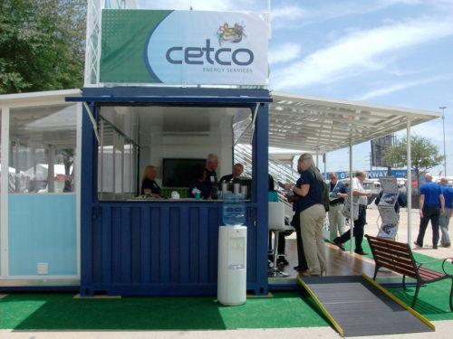 container modificado como stand comercial