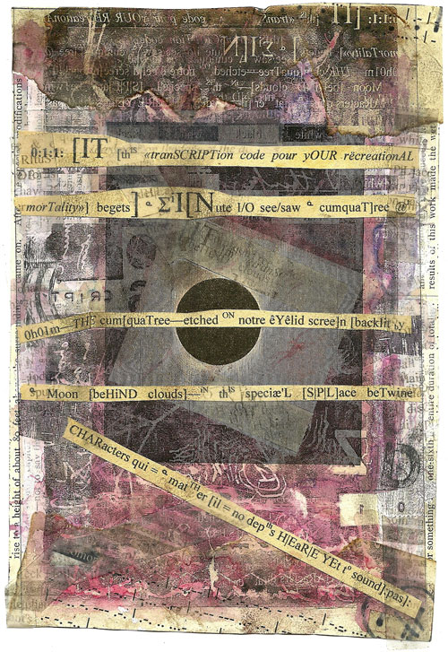Ark Codex 0:1:1 13x19 cm, multimedia (collage/frottage) Derek White