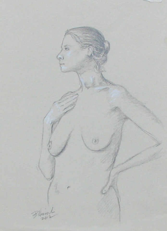 elegant nude torso