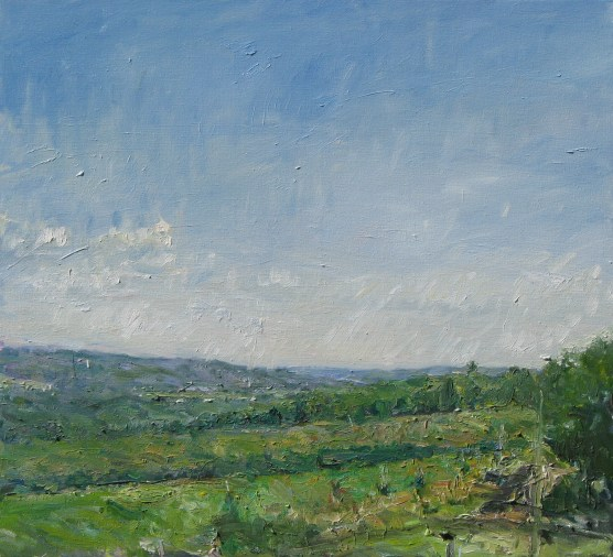 View from Jenn's House, 2007, oil on board, 28 x 31 in., private collection