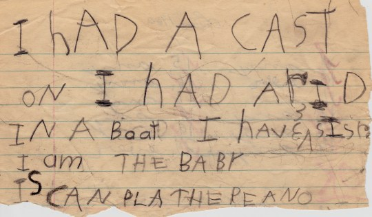 Early Autobiographical Work, age 5