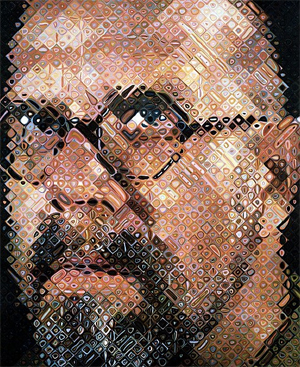 Chuck Close, Self Portrait, 1997
