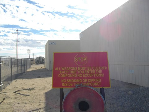 Warning sign at 29 Palms