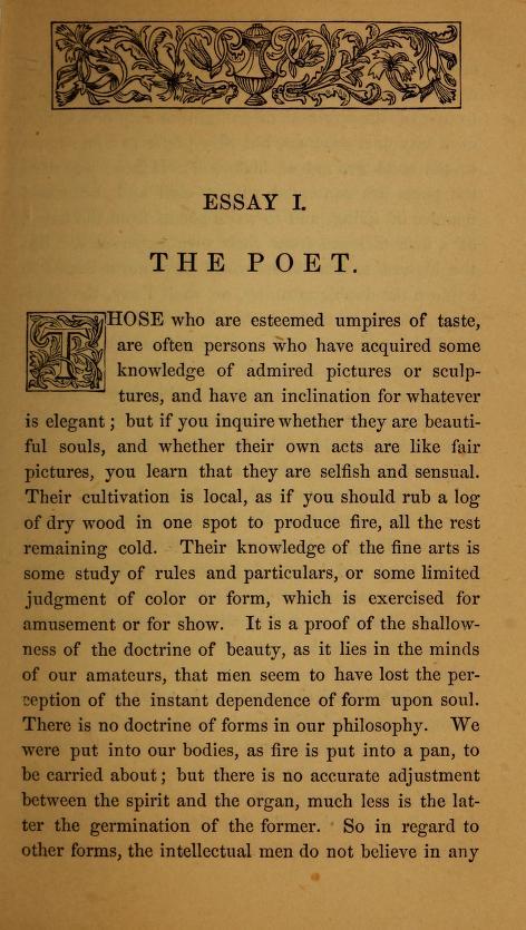 the poet essay
