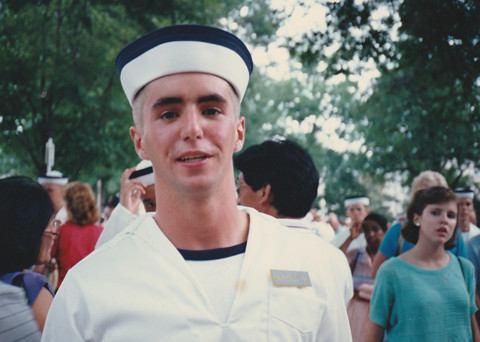 Richard Farrell as plebe at Annapolis