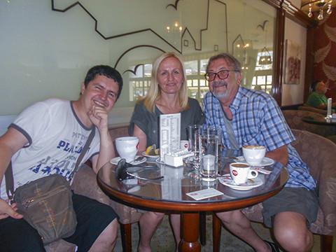 Stefica Galic and Goran Simic at Hotel Bristol, Mostar