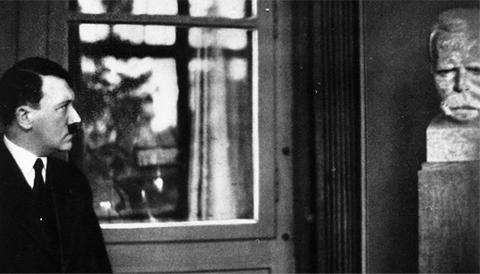 Hitler contemplates Nietzsche