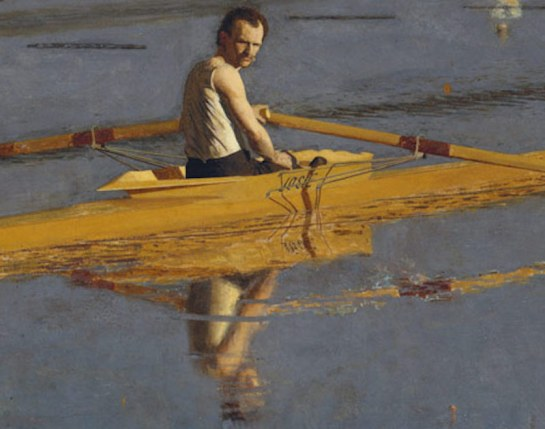 Working Title/Artist: The Champion Single Sculls (Max Schmitt in a Single Scull)Department: Am. Paintings / SculptureCulture/Period/Location: HB/TOA Date Code: Working Date: 1871 Digital Photo File Name: DT86.tif Online Publications Edited By Steven Paneccasio for TOAH 06/08/15