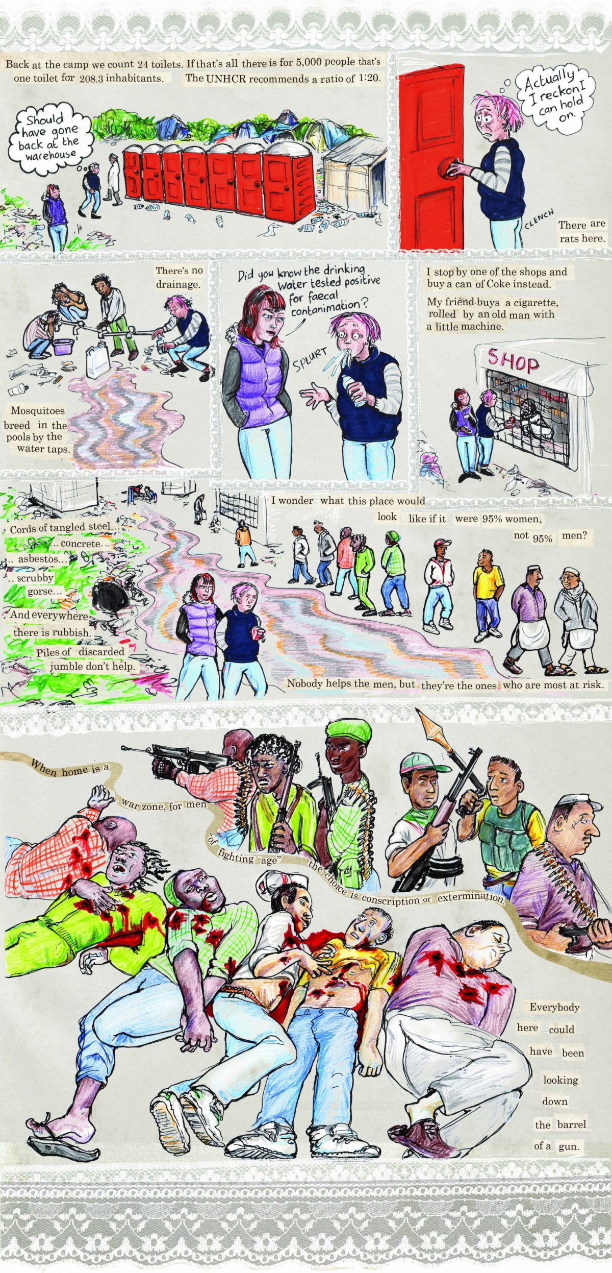 threads from the calais refugee crisis graphic essay kate kate evans