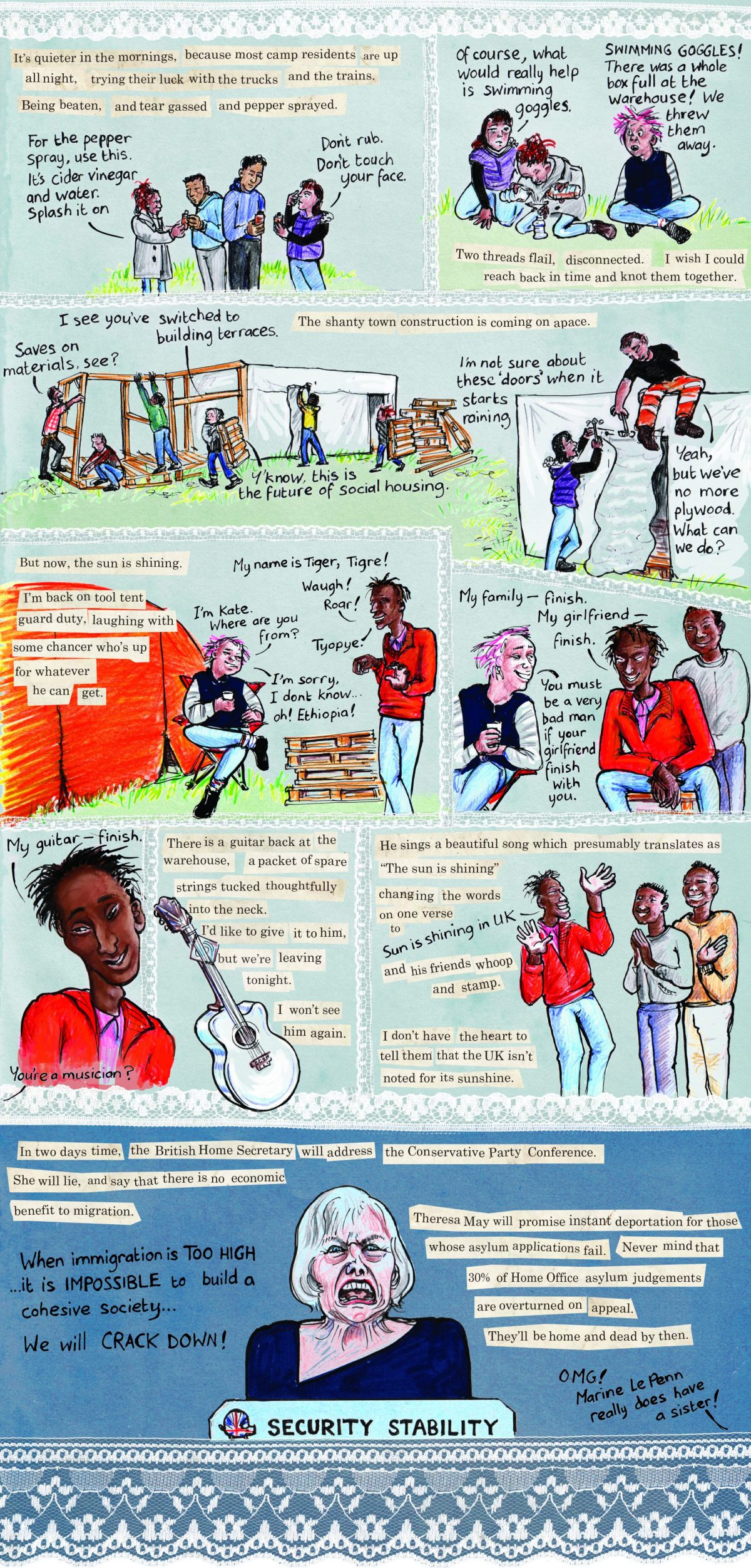 graphic essay threads from the calais refugee crisis graphic essay  threads from the calais refugee crisis graphic essay kate kate evans