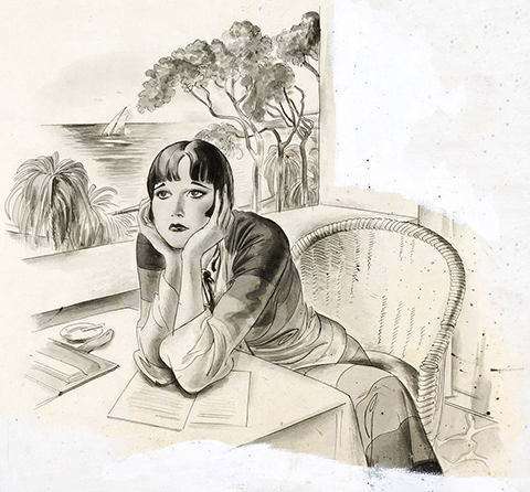 Striebel illustration from Show Girl in Society