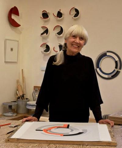Anne Hirondelle in her studio