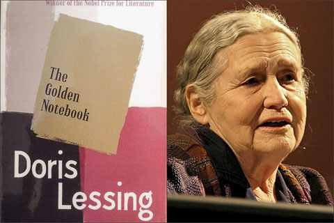 Doris Lessing Golden Notebook collage