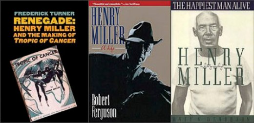 Henry Miller biographies collage