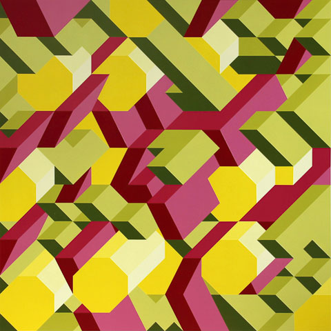 M4 acrylic on pvc 48 x 48 in 2013