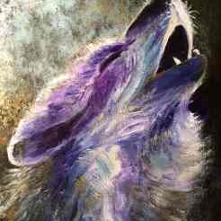 Wolf Spirit painting by Greer Jonas
