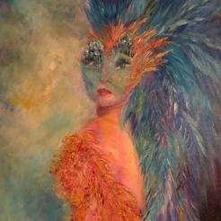 bird woman print