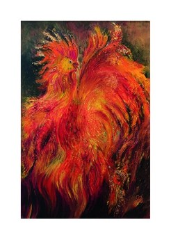 Rooster print by Greer Jonas