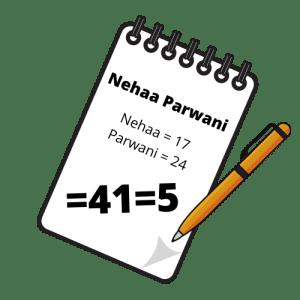 Nehaa Parwani Destiny Number Calculation