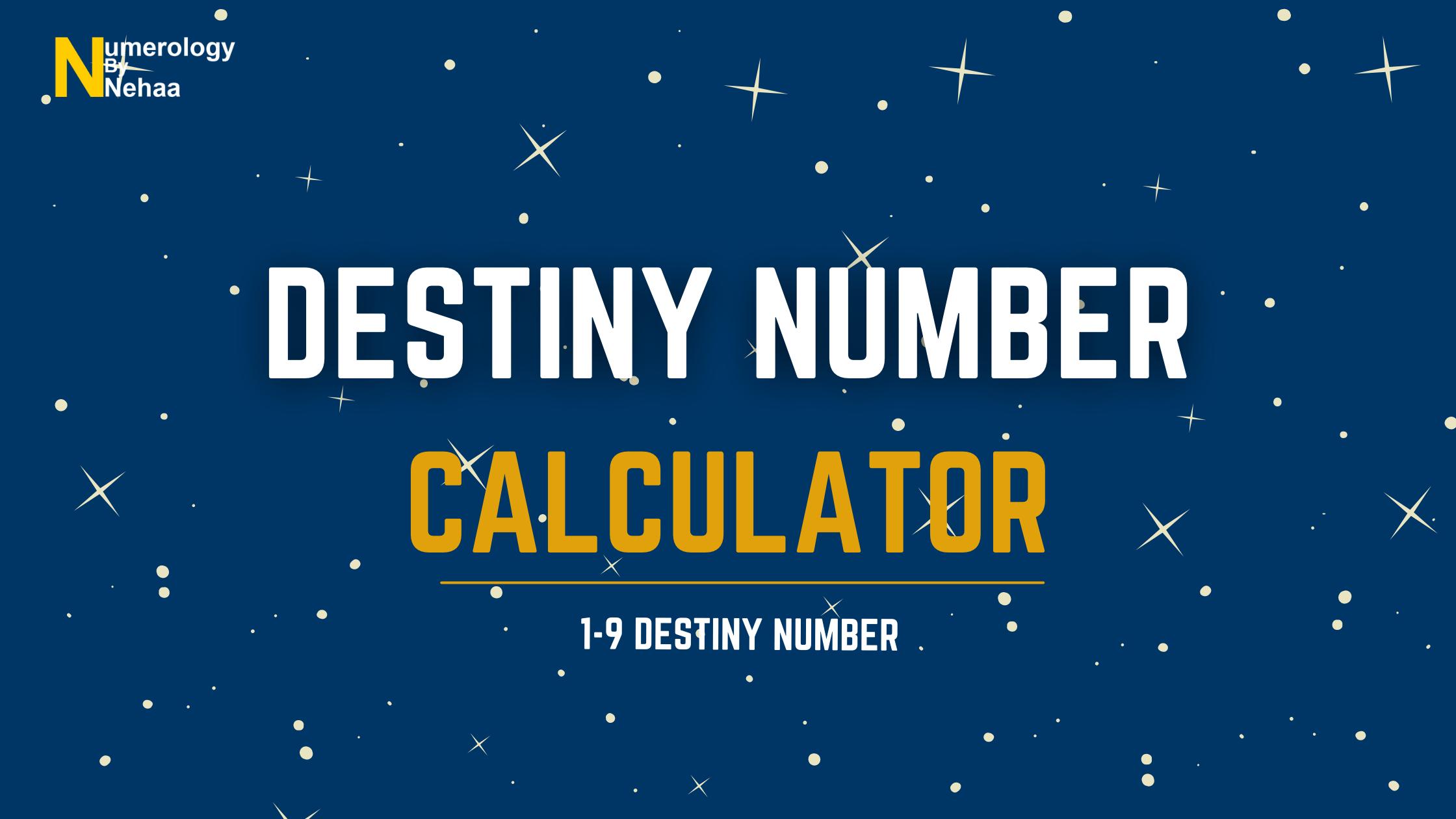 Destiny Number Calculator