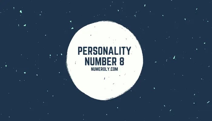 numerology personality number 8