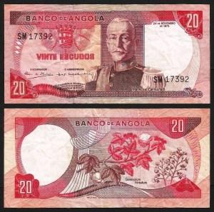 ANGOLA (10) - 20 ESCUDOS 'Mar. Carmona' (1972) CIRC. +++++ VENDIDA +++++ 1