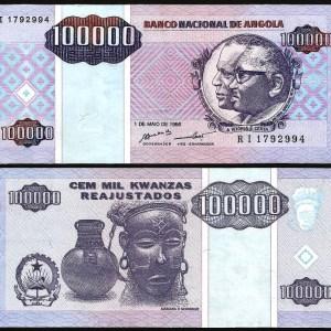 ANGOLA .n139 - 100.000 KWANZAS (1995) BELA +++++ VENDIDA +++++ 1