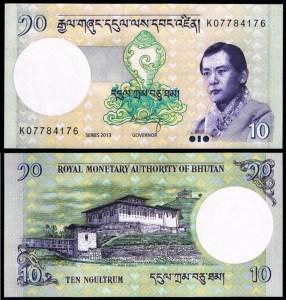 BUTÃO .n29 (BHUTAN) - 10 NGULTRUM (2006) NOVA