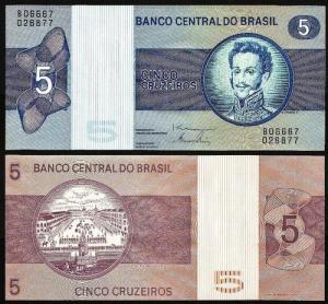 BRASIL .n192d (BRAZIL) - 5 CRUZEIROS (1979) NOVA