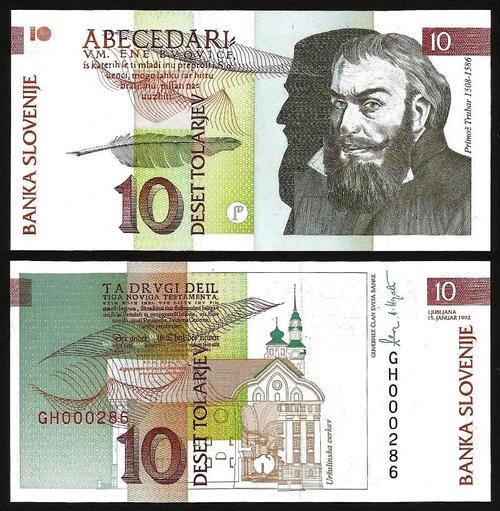 ESLOVÉNIA .n11 (SLOVENIA) - 10 TOLARJEV (1992) NOVA +++++ VENDIDA +++++