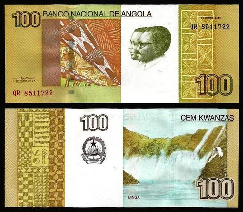 ANGOLA .n153a - 100 KWANZAS 'Agostinho Neto / José E. Santos' (2012) NOVA