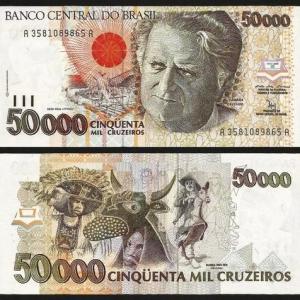 BRASIL .n234 (BRAZIL) - 50.000 CRUZEIROS (1992) NOVA