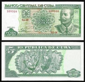 CUBA .n116 - 5 PESOS 'Antonio Maceo' (2011) NOVA