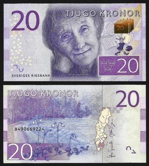 SUÉCIA .n69a (SWEDEN) - 20 KRONOR (2015) NOVA