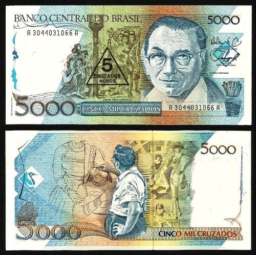 BRASIL .n207 (BRAZIL) - 50 CRUZADOS S/ 50.000 CRUZADOS (1989) NOVA (Cópia)